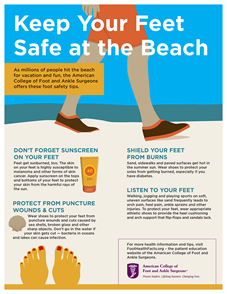 Don T Let Your Feet Ruin Your Day At The Beach Foot Health Facts